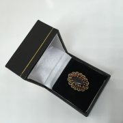 Preowned 9 carat yellow gold garnet cluster