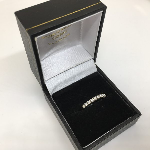 Preowned 9 carat yellow gold diamond band/ eternity ring