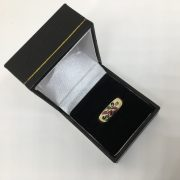 Preowned 9 carat yellow gold multi stone ring