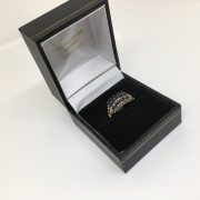 Preowned 9 carat yellow gold sapphire ring