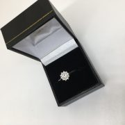 Preowned 18 carat white gold diamond single stone ring