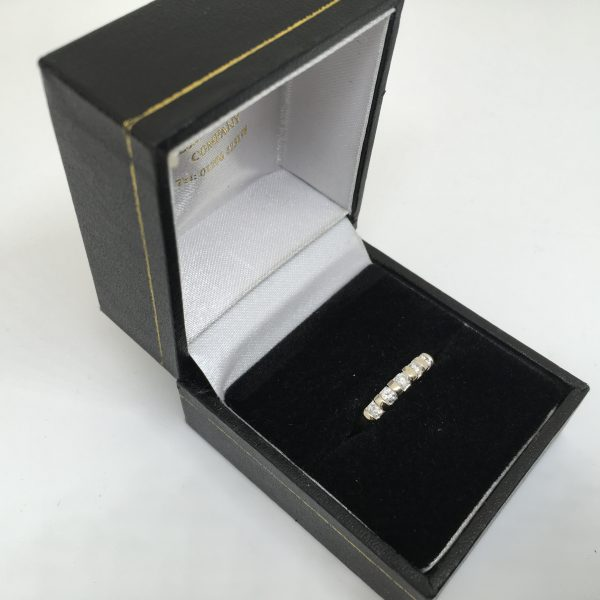 Preowned 9 carat white gold diamond 5 stone ring