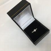 Preowned platinum diamond single stone ring
