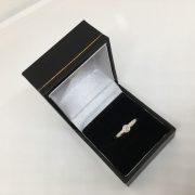 Preowned 9 carat white gold diamond single stone ring
