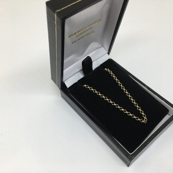Preowned 9 carat yellow gold round belchar chain
