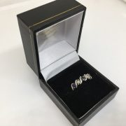 Preowned 9 carat white gold sapphire and diamond ring