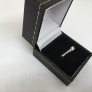 Preowned 9 carat white gold diamond ring