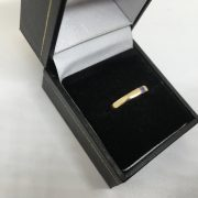 Preowned 9 carat yellow gold tanzanite single stone ring
