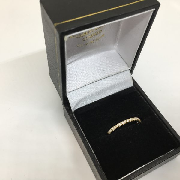 Preowned 18 carat yellow gold diamond band/ eternity ring