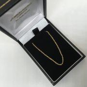 9 carat yellow gold diamond cut trace chain