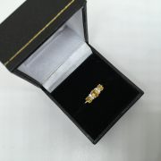 9 carat white gold yellow sapphire and diamond ring