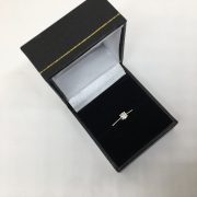 Sterling silver diamond single stone ring