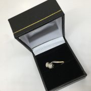 Preowned 18 carat 2 colour diamond 2 stone ring