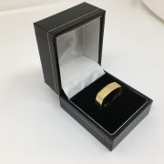 9 carat yellow gold squared design 6mm band