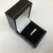 18 carat yellow gold full diamond eternity ring
