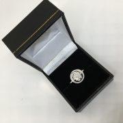 18 carat white gold diamond spiral ring