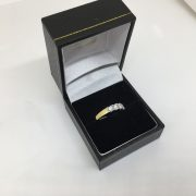 18 carat yellow gold diamond band ring
