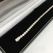 18 carat white gold diamond set bracelet