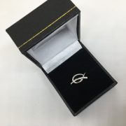 18 carat white gold diamond journey ring