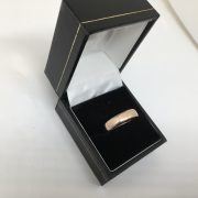 9 carat rose gold 5mm band