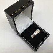 18 carat white gold 6mm diamond set band