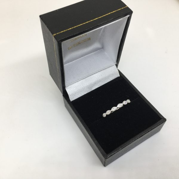 Platinum and diamond fancy band/ ring