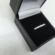 Platinum and diamond band/ ring