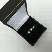 18 carat white gold sapphire and diamond ring