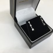 9 carat white gold diamond drop earrings