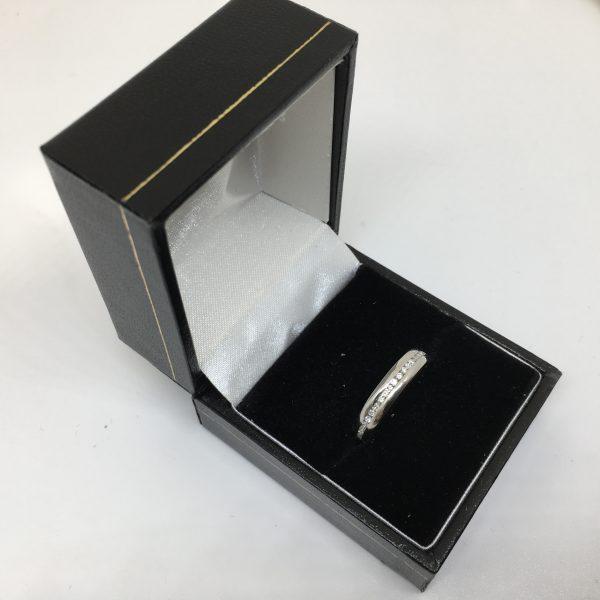Platinum diamond full eternity ring