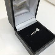 Preowned 18 carat white gold diamond single stone ring
