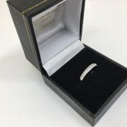 18 carat white gold princess cut diamond band/ ring