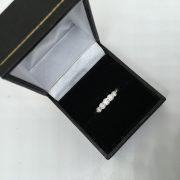 Platinum and diamond 5 stone ring