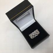9 carat white gold fancy diamond ring