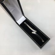 Preowned 9 carat white gold diamond bangle