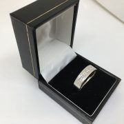 18 carat white gold 6mm diamond set band