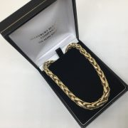 Preowned 9 carat yellow gold spiga chain