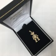 Preowned 9 carat yellow gold teddy bear charm/ pendant