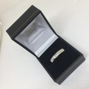 Preowned platinum and diamond band/ ring