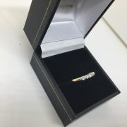 Preowned 18 carat yellow gold diamond 5 stone ring
