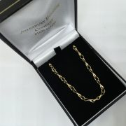 Preowned 9 carat yellow gold Romeo and Juliet chain