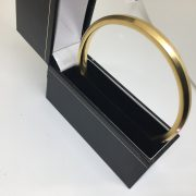 Preowned 9 carat yellow gold slave bangle