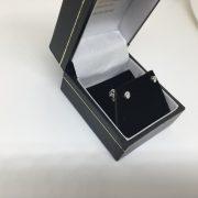 Preowned 18 carat white gold diamond stud earrings