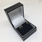 Preowned 18 carat yellow gold sapphire and diamond earrings