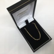 Preowned 9 carat yellow gold garnet bead necklace