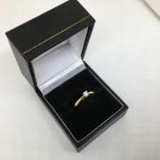 18 carat yellow gold diamond single stone ring