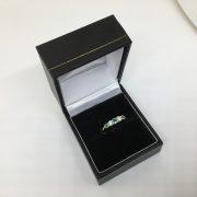 18 carat yellow gold emerald and diamond ring