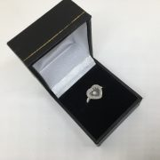 9 carat white gold diamond heart ring