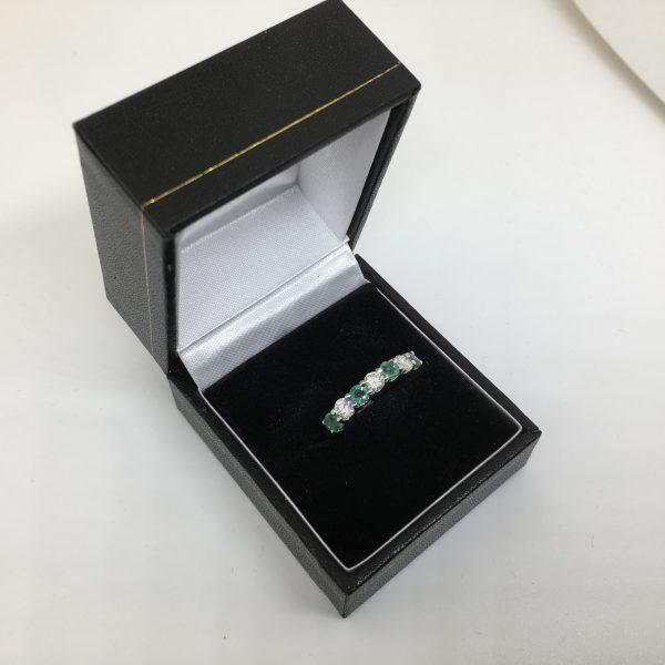18 carat yellow gold emerald and diamond