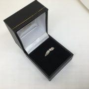 9 carat white gold 7 stone diamond ring